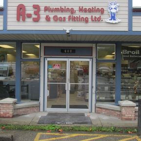 A-3 Plumbing, Heating and Gas Fitting store front and parking lot